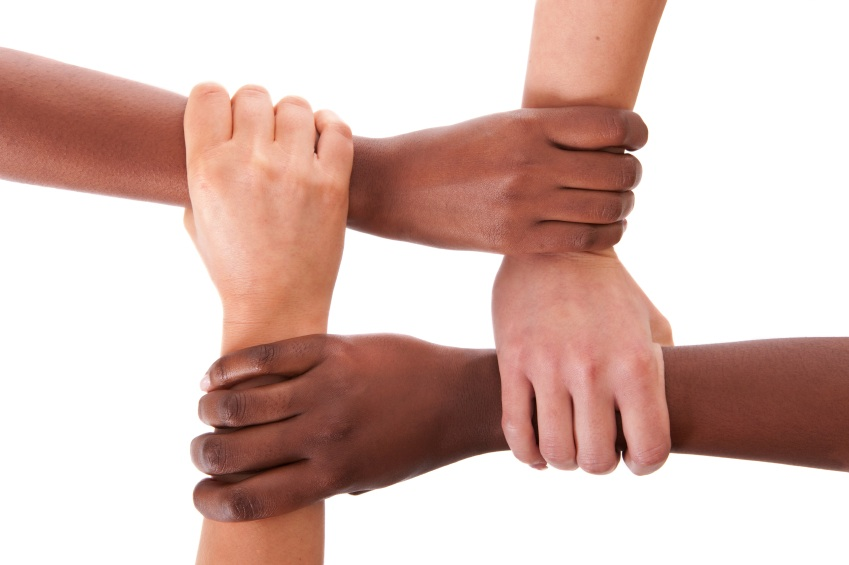 Race and ethnicity hands