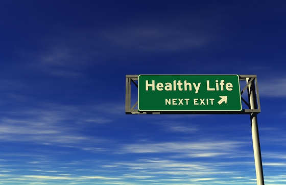 Healthy Life Freeway Exit Sign